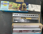 2 VINTAGE ATHEARN MINIATURE NY CENTRAL PASSENGER AND BAGGAGE  CARS