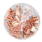 72pcs Binder Clips Paper Clips Push Pins Sets With Acrylic Box For Office School