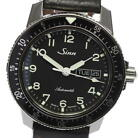 With Box Protection Sinn Gin Day-Date Leather Belt Ref.104 Automatic Mens Ev05