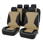 9Pcs Set PU Leather 5 Seat Car Seat Cover Cushion Fit For Interior Accessories
