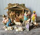 Vintage Christmas Nativity Creche Figures Lot Germany Italy Camel Sheep