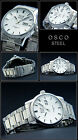OSCO Men's Watch Aviator Stainless Steel Easy to Read Large Date White 10 BAR