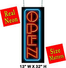 Vertical Open Neon Sign Jantec 2 Sizes Tattoo Store Shop Diner Cafe