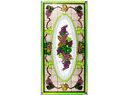 35x18 GRAPES Vineyard Fruit Stained Art Glass Suncatcher