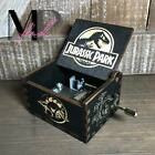 BLACK Jurassic Park Music Box Handcrafted Carved Wood Custom Designed Theme Song