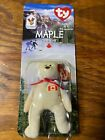 Ty Maple The Bear Collectors Item Mcdonald's Charity Born 1996 Misspelled Beanie