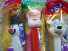 PEZ Christmas Dispensers Snowman Santa Claus White Dog New Package 1993 XMas #B