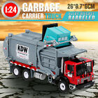 Alloy Diecast Barreled Garbage Truck 124 Transporter Vehicle Mod Collector Toy