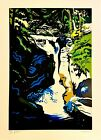 Waterfall Original Hand Signed Limited Edition Serigraph Carsman