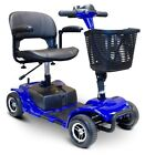 eWheels Electric Portable Medical Mobility Travel Scooter 4 Wheel Blue EW M34