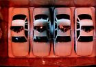 Set of 4 Crown Victoria Chicago Police Cars 124 Die Cast Metal Red Box 71627