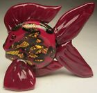 Jack Loranger Studio Art Glass Free Hand Blown Tropical Fish with Mica Flakes