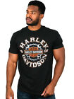 Harley Davidson Mens Crossed Up Battered Tools Black Short Sleeve Biker T Shirt