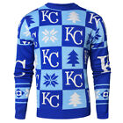 Kansas City Royals Patches MLB Ugly Crew Neck Sweater by Forever Collectibles