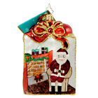 Christopher Radko TREASURE TOTE Glass Ornament Christmas Bag Purse