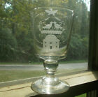 1933 REPEAL OF THE 18TH AMENDMENT RARE VERNAY CUT ETCHED CRYSTAL GLASS GOBLET