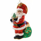 Christopher Radko WINTER LAND TREASURE Glass Ornament Santa Waterball 1018181