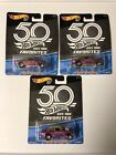 Hot Wheels 2018 50th Favorites 55 Chevy Bel Air Gasser Magenta Lot of 3 NEW