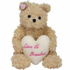 TY Beanie Baby - DEAR HEART the Bear (Hallmark Gold Crown Excl) (7 inch) - MWMTs