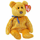 TY Beanie Baby - DISCOVER the Gold Bear (Northwestern Mutual Exclusive) (8.5 in)