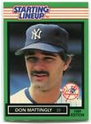 1989 Kenner Starting Lineup Cards 89 Don Mattingly