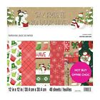 New Craft Smith 12 x 12 Paper Pad Christmas Say Freeze