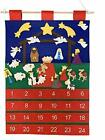 Good Ruby Felt Advent Calendar for Kids Hanging Countdown to Nativity Stable