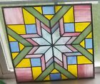 Beautiful Large Framed Stained Glass window panel 145x145