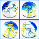 CAITHNESS art glass optix paperweight scotland shoal mates fish tank U21229