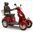 eWheels EW 46 4 Four Wheel RED Electric Mobility Scooter 13MPH 35 Miles NOTAX