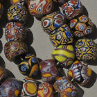 a variety of 26 old antique venetian millefiori african trade beads 4855