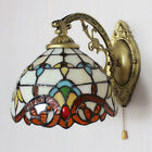 Tiffany Wall Light Stained Glass Wall Light Vintage Wall Sconce Light Pull Chain