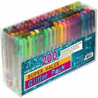 Gel Pens Pen Set 200 Colors For Adult Glitter Coloring Books Writing Drawing Art