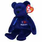 TY Beanie Baby - MELBOURNE the Bear (I Love Melbourne - Australia Excl) (8.5 in)