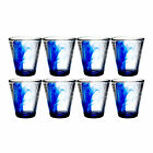 Bormioli Rocco Murano 145 oz Cobalt Blue Beverage Glass 8 Pack
