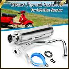 For GY6 50CC Scooter Chrome High Performance Exhaust Muffler Pipe Slip On Silver