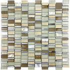 Glass Mosaic Random Mix Aluminum Sea Shell Mother Of Pearl Tile Backsplash Warm