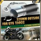 320mm Performance Exhaust System Muffler Parts For GY6 150cc 4 Stroke Scooters