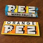Vtg PEZ 1970s  EMPTY candy wrappers ORANGE Mixed Fruits Haas CT Yugoslavia  Rare