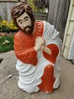 1999 Christmas Light UP Blow Mold Nativity Joseph Grand Venture Outdoor 28