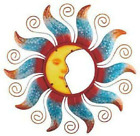 Sun And Moon Celestial Decor Metal Outdoor Wall Art Plaque Sculpture With Acryli