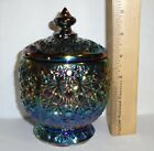 Vintage Fenton Carnival Glass Daisy Button Covered Candy Dish Excellent Cond