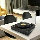 Photive Spin Belt Driven Bluetooth Turntable with Built in Stereo Speakers Black