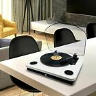 Photive Spin Belt Driven Bluetooth Turntable with Built in Stereo Speakers White