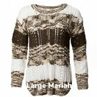 Lularoe Mariah Olive Green Tan Large Chenille Open Knit New