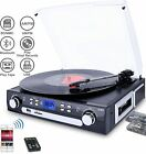 Bluetooth Record Player with Stereo Speakers Turntable for Vinyl to MP3