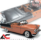 AUTOWORLD AMM1221 118 1955 CHEVROLET BEL AIR CONVERTIBLE CORAL SHADOW GRAY