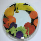 Peggy Karr Fused Art Glass Serving Plate Dish Fruit Signed 13 3 4
