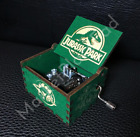 Jurassic Park Music Box Handcrafted Carved Wood Custom Designed Theme Song GREEN