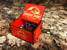 Jurassic Park Music Box Handcrafted Carved Wooden Custom Designed Theme Song RED
